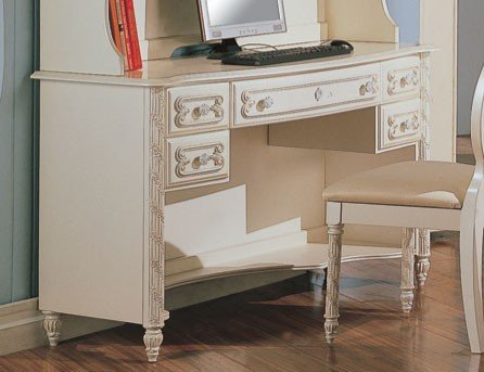 Alexandria Desk in White Pearl Finish by Coaster by Coaster Home Furnishings