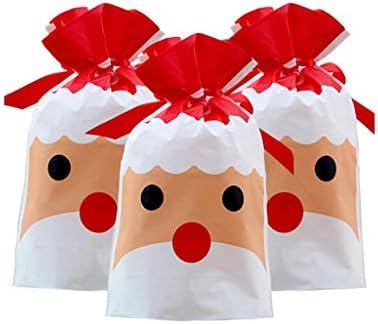 [해외]? Futurelove ? Christmas Drawstring Gift Bags Elk Santa Claus Treat Goody Bag Gift Colorful Wrapping Bags Birthday Christmas New Year Holidday Party Favors Supplies Storage Bag 50PCS / ? Futurelove ? Christmas Drawstring Gift Bags ...