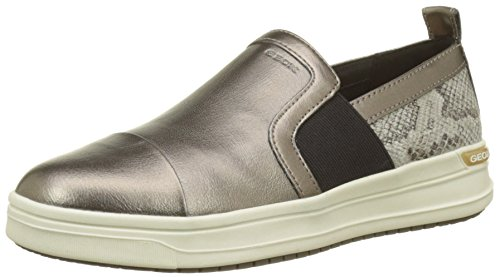 Geox J Aveup E, Zapatillas para Niñas, Dorado (Dk Gold), 31 EU