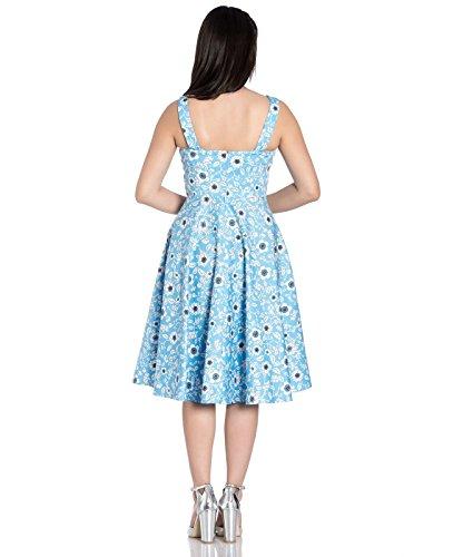Style Jahre Blumenmuster Daphne Sommerkleid Hell 50s Bunny wTXanWxq1