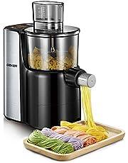 AiHom Máquina de Hacer Pasta y Fideos Totalmente Automática de Acero Inoxidable, Capacidad para 750g, 9 Variedades de Pasta, Color Negro