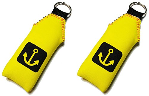 2x Floating Neoprene Keychain Key Chain floats 2-3 Keys (Floating Keychain)