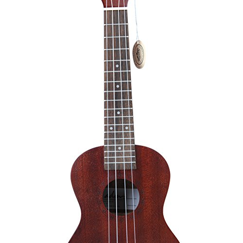 "ADM 23"" Deluxe Mahogany Concert Ukulele Kit with Bag, Strap, Tuner and Picks - Image 3"
