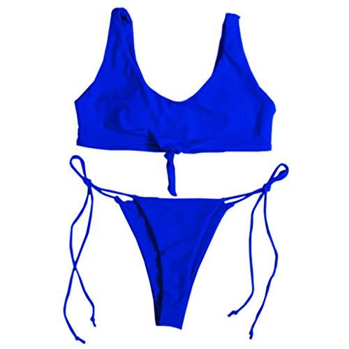Price comparison product image AMSKY Swimwear for Women Cover Up, Sexy Womens High Waist Bandage Bikini Set Swimwear Beach Swimsuit Monokini, Men's Big & Tall Board Shorts, Blue 05, XL