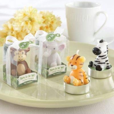 Kate Aspen 4 Count Born to be Wild Assorted Animal Candles ()