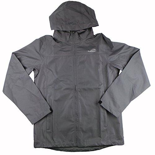 (Avalanche Men's Linear Hooded Rain Waterproof Jacket (Medium, Iron Grey))