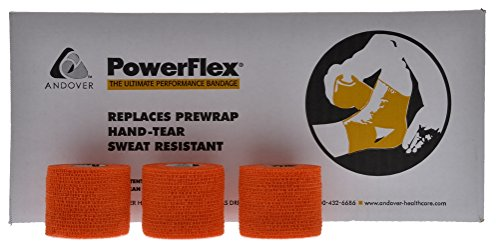 Powerflex 2'' Stretch Athletic Tape - 24 Rolls, Orange by Powerflex