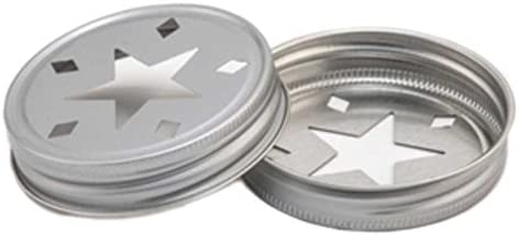4 x Stern Deckel - für Ball Mason Glas
