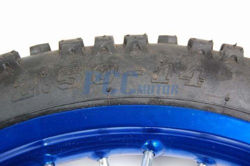 12L 14'' BLUE FRONT RIM WHEEL HONDA CRF50 70 SSR SDG 107 15mm WM08B
