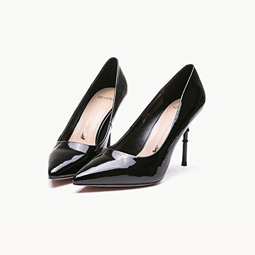 5 CN35 Color UK3 EU36 Sólido Zapatos Zapatos Altura Tamaño Negro del Blanco 8 YIXINY PU Color 17262 Black Cm Color Tacón De tacón Trigo de Wheat Colored wBSvwqf4