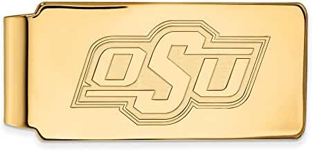 10k Yellow Gold LogoArt Official Licensed Collegiate Oklahoma State University (OSU) Money Clip