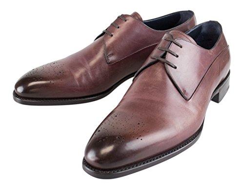 Ermenegildo Zegna Premium Brown Leather Oxford Shoes Size 9.5 US 8.5 EU