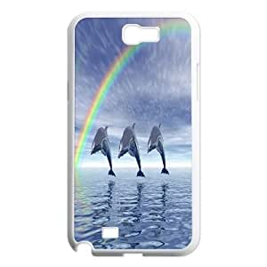 LTTcase Customised Personalised Dolphin Case for samsung galaxy note2 n7100