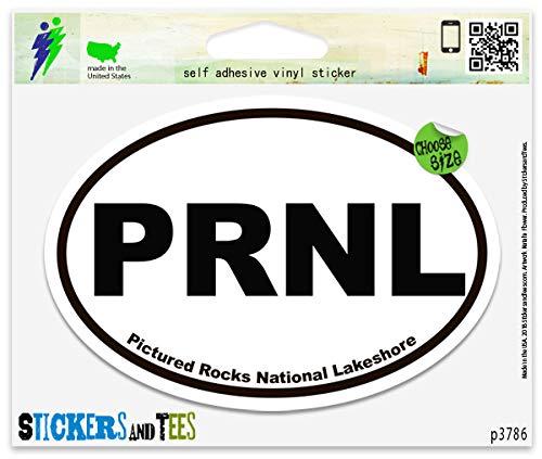 PRNL Pictured Rocks National Lakeshore Oval Vinyl Car Bumper Window Sticker 5