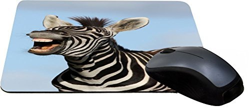 Rikki Knight Laughing Zebra Design Lightning Series Gaming Mouse Pad (MPSQ-RK-2029)