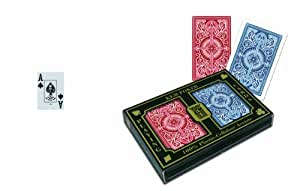 KEM Arrow Red and Blue, Bridge Size- Jumbo Index Playing Cards (2-Pack)