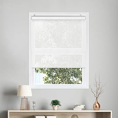 CHICOLOGY Snap-N'-Glide Cordless Roller Shades UV Blocking Fabric Window Blind, 35