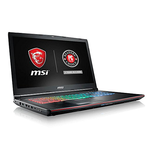 MSI GE72MVR APACHE PRO-044 17.3' 120Hz 5ms Display Extreme Gaming Laptop GTX 1070 8G Core i7-7700HQ 16GB 128GB NVMe SSD + 1TB Full Color Keyboard