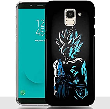 MYCOQUE Coque Samsung J6 2018 DBZ/Housse Galaxy J6 Plus 2018 Manga/Style Dragon Ball Z (Galaxy J6 2018)