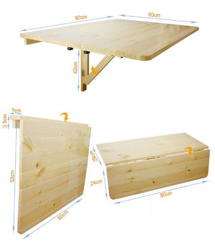 Table rabattable murale cuisine table murale rabattable for Table murale rabattable avec pied