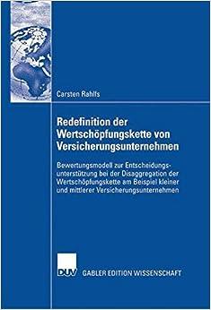 Book Redefinition der Wertschöpfungskette von Versicherungsunternehmen