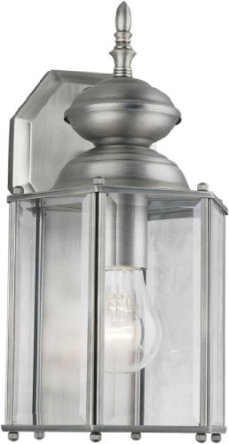 Forte Lighting 1007-01 Outdoor Wall Sconce from the Exterior Lighting Collection, Olde Nickel