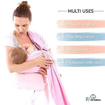 Bandouli/ère pour b/éb/é 100/% confortable avec livre /électronique /« My First Baby /» gratuit Cadeau id/éal pour les nouveau-n/és /Écharpe l/ég/ère en coton doux pour les nourrissons jusq