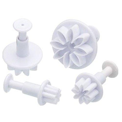 Daisy Flower Plunger Cookie Cutter 4 Pc Set