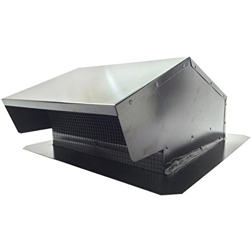 BUILDERS BEST 012634 Black Metal Roof Vent Cap (6