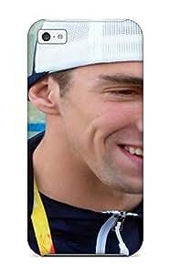New Premium Flip Case Cover Michael Phelps Poster Skin Case For Iphone 5c