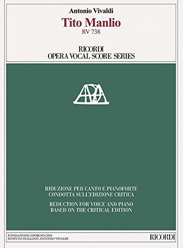 Tito Manlio Vocal Score Based On The Critical Edition