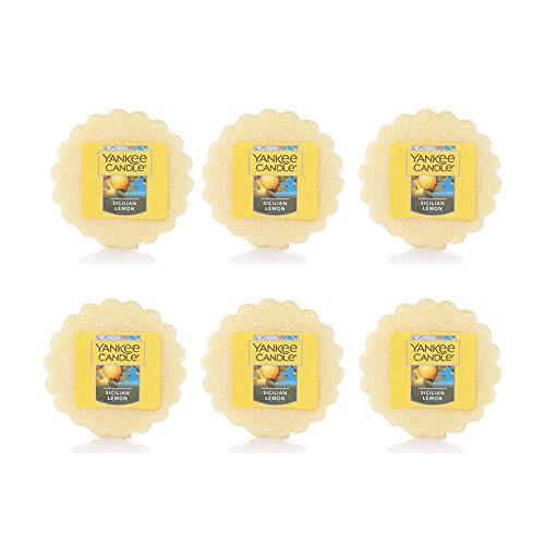 Yankee Candle - 6 x Sicilian Lemon Wax Potpourri Tart Melts