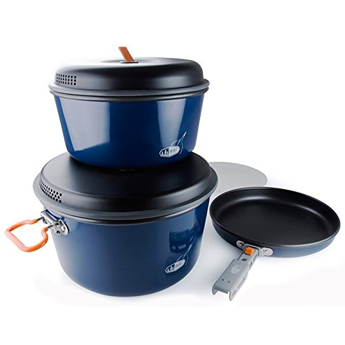 GSI Outdoors - Pinnacle Base Camper, Camping Cook Set, Large, Superior Backcountry Cookware Since -