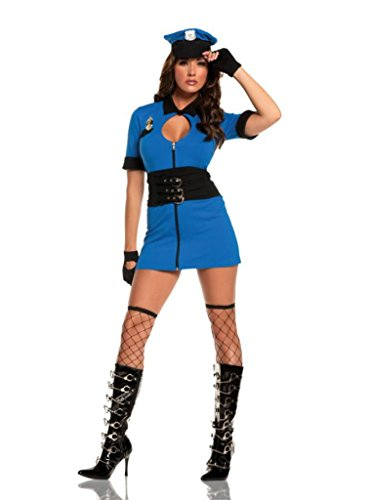 Elegant Moments Womens Intriguing Interrogator Police Swat Outfit Sexy Costume, M (6-10)