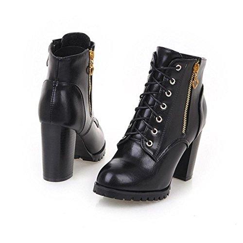 Mode Noir Zanpa Cheville De Martin Femmes Bottes qYwgxg85PS