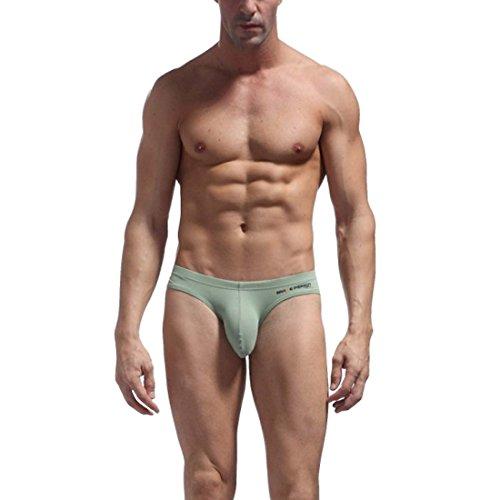 Price comparison product image Aivtalk Men Sexy Trunks Underwear Briefs Shorts Underpants (S, Green 2)