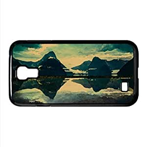 lintao diy Milford Sound Morning Watercolor style Cover Samsung Galaxy S4 I9500 Case (New Zealand Watercolor style Cover Samsung Galaxy S4 I9500 Case)
