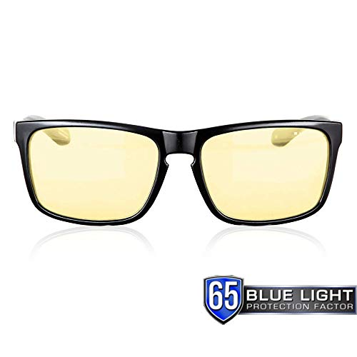 GUNNAR Gaming and Computer Eyewear /Intercept, Amber Tint - Patented Lens, Reduce Digital Eye Strain, Block 65% of Harmful Blue Light