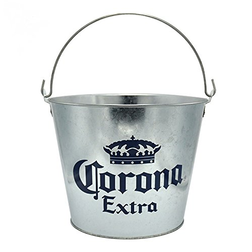 - Corona Extra - Galvanized Metal Beer Bottle Bucket with Handle