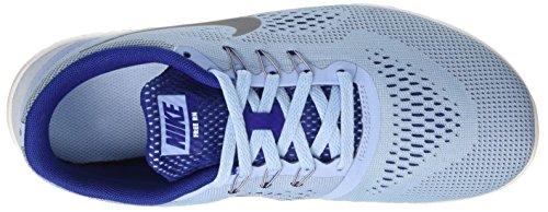 NikeFree Rn Gs - Zapatillas de entrenamiento Niñas Azul (Bluecap / Metallic Silver-Deep Royal Blue)