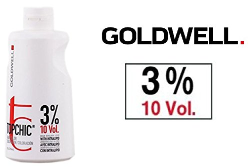 Goldwell Topchic Hair Color Coloration Cream Developer Lotion (includes Sleek Tint Brush) 32 oz (3% / 10 - Cream Goldwell