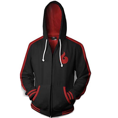 - NSOKing Hot 3D Printed Naruto Cosplay Boruto Costume Hoodie Coat Sports Jacket (Small, Zipper)