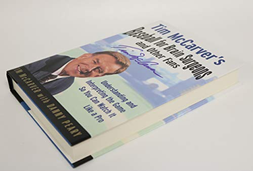 Tim McCarver Signed Autographed 1st Edition 'Baseball For Brain Surgeons' H/C Hard Cover Book - Signed Twice