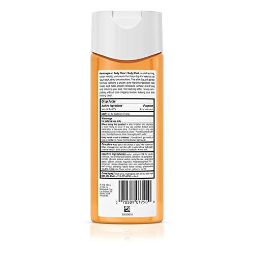 Neutrogena Body Clear Acne Body Wash with Glycerin & Salicylic Acid Acne Medicine for Acne-Prone Skin, Non-Comedogenic, 8.5 fl. Oz (Pack of 6) by Neutrogena (Image #5)