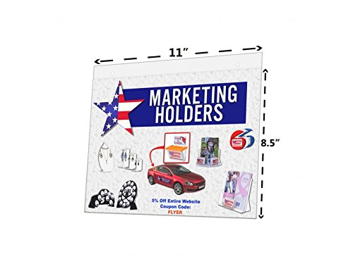 Marketing Holders Graphics or Literature Frame Wall Mount with Holes Wholesale 11'' w x 8.5'' h Lot of 4
