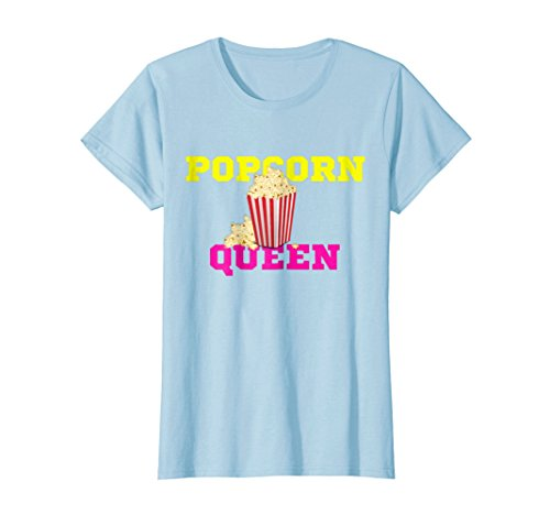 Womens Popcorn Queen t-shirt Small Baby Blue for $<!--$18.50-->