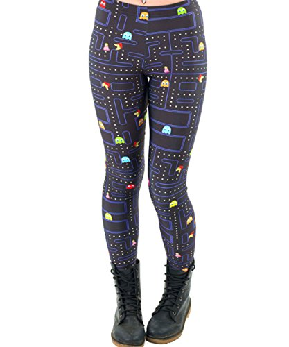 Abby Berny Womens Pacman Cartoon Printing High Waist