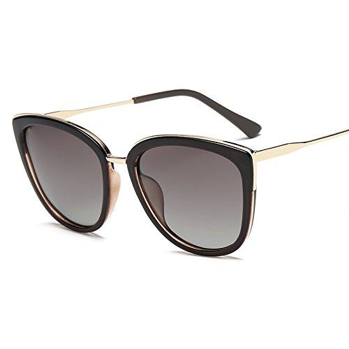 fc87c38c8e Gafas de Sol La Nueva Marea Gafas de Sol Gran Caja Cuadrada Fina Cara  Redonda Gafas Gafas de Sol Gafas polarizadas viciadas Anti UV Gafas de Sol,té  cónico: ...