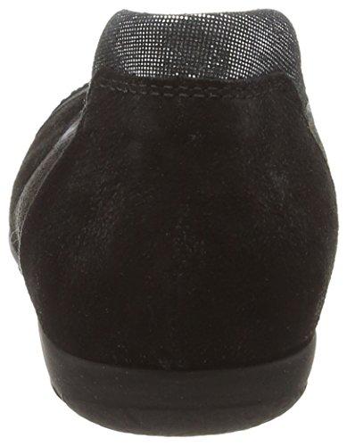 para mujer de Bailarinas Caruso Gabor Piel 167 Black 84 Negro 17 Velour 17 fwpxxq0Y