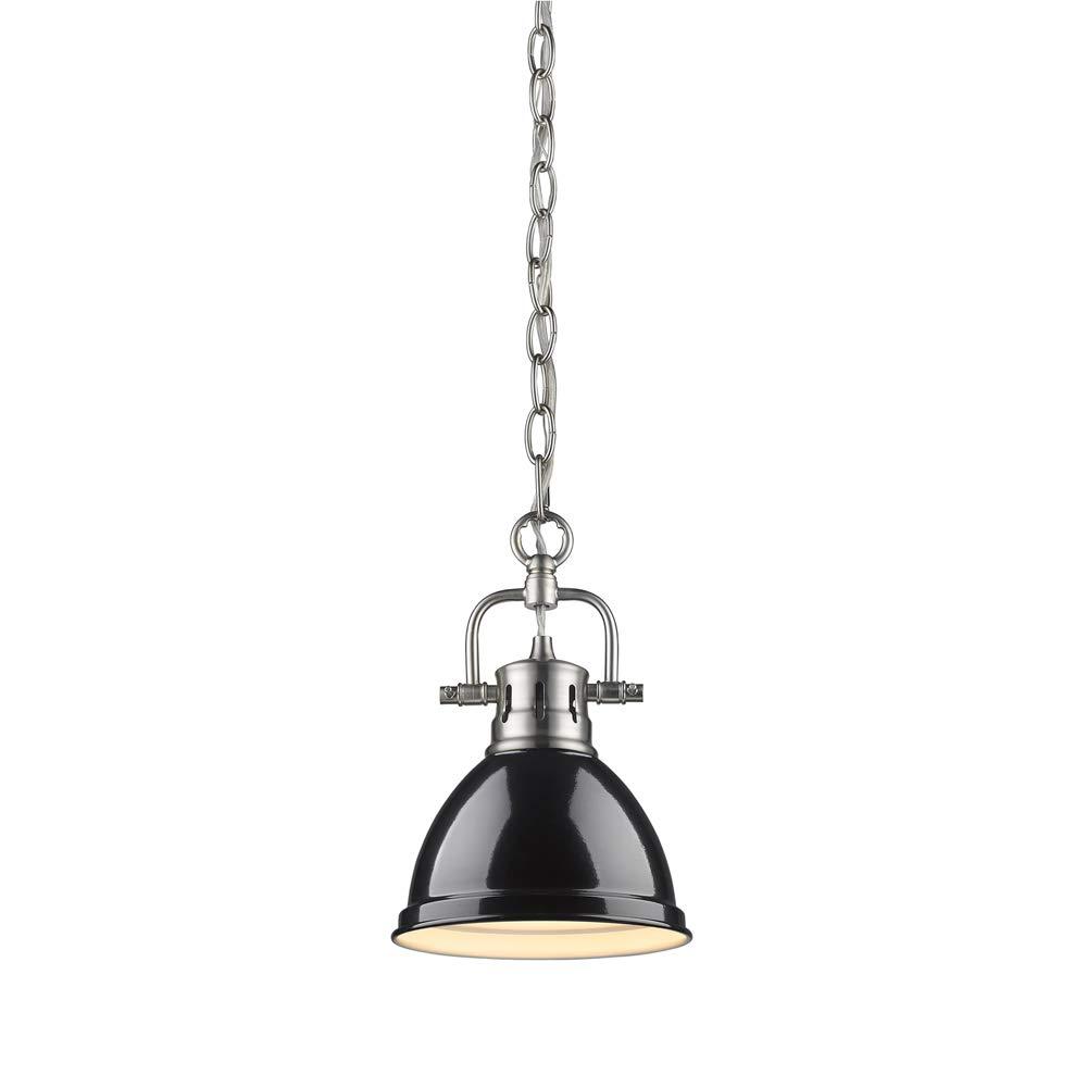 Golden Lighting 3602-M1L RBZ One Light Mini Pendant Bronze
